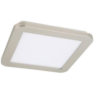 NEXIT LAMPA SUFITOWA PLAFON 22,5X22,5 12W LED IP44 SATYNA+BIAŁY 3000K