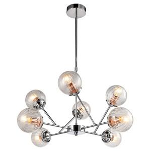 BEST LAMPA WISZĄCA 8X40W E14 CHROM+MIEDŹ