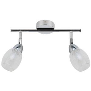RICO LAMPA SUFITOWA LISTWA 2X6W LED SMD GŁÓWKA OKRĄGŁA 1E Z PRZEGUBEM KD SYSTEM KLOSZ WYMIENNY CHROM/BEZBARWNY