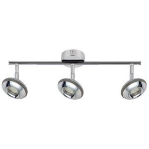 SKIPPER LAMPA SUFITOWA LISTWA 3X6W LED COB GŁÓWKA OKRĄGŁA 1E Z PRZEGUBEM KD SYSTEM CHROM