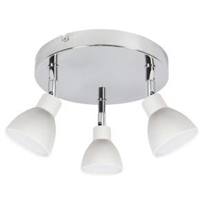 ROY LAMPA SUFITOWA PLAFON 3X5W LED COB GŁÓWKA OKRĄGŁA 1E Z PRZEGUBEM KD SYSTEM BIAŁY