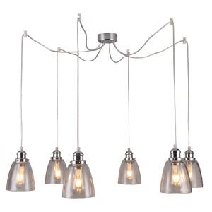 VOICE LAMPA WISZĄCA 6X40W E27 CHROMOWY