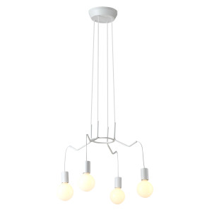 BASSO LAMPA WISZĄCA 4X40W E27 BIAŁY MATOWY