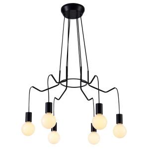 BASSO LAMPA WISZĄCA 6X40W E27 CZARNY MATOWY