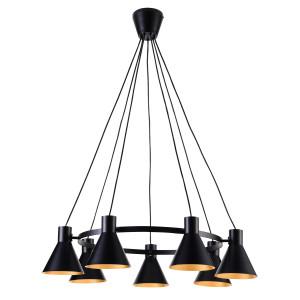 MORE LAMPA WISZĄCA 7X40W E27 CZARNY MATOWY