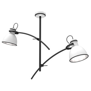 ZUMBA LAMPA WISZĄCA 2X60W E27 BIAŁY+CZARNY