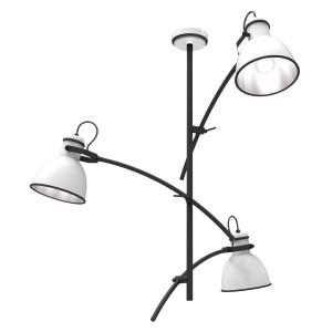 ZUMBA LAMPA WISZĄCA 3X60W E27 BIAŁY+CZARNY