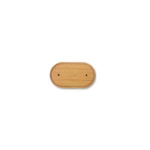 Drewniana podstawa sześcienna z frezem dąb, GiGambarelli,01130