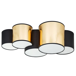 MONA BLACK/GOLD LAMPA SUFITOWA 5 PŁ  3447