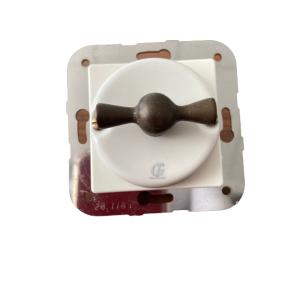 Porcelanowy włącznik pojedynczy/schodowy podtynkowy brąz Gi_GAMBARELLI, Arreda Round/Tonda