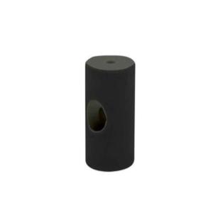 Izolator czarny prosty do mocowania kabli w oplocie ANTICA