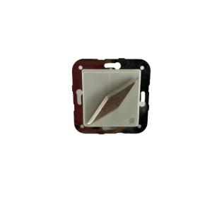 Porcelanowy włącznik pojedynczy/schodowy podtynkowy Gi_GAMBARELLI, ARREDA SQUAR
