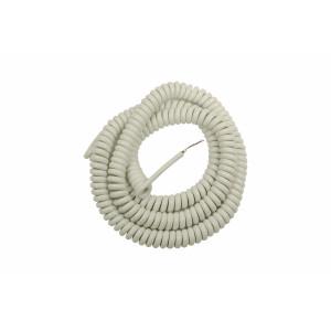 Kabel spiralny PVC kolor biały o przekroju 3x1