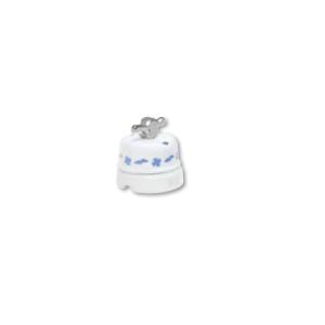 Porcelanowy włącznik natynkowy obrotowy pojedynczy/podwójny old england, biały, GiGambarelli, EN00712