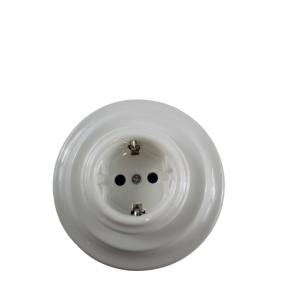 Podtynkowe gniazdko elektryczne retro ANTICA BIAŁA, TT-02 biały
