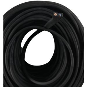 Przewód płaski do girlandy - czarny H05RR-F, przekrój 2x1,5mm w otulinie gumowej 37/18