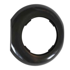 Ramka modułowa środkowa czarna połysk