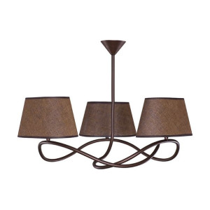 Lampa wisząca SENSO 3 plafon ciemny 16303 SIGMA