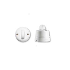 Porcelanowy włącznik natynkowy dwubiegunowy półksiężyc , GiGambarelli 00110