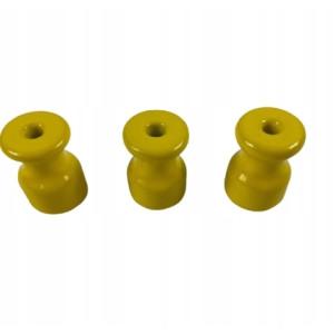 UCHWYT DO MOCOWANIA KABLI W OPLOCIE izolator żółty