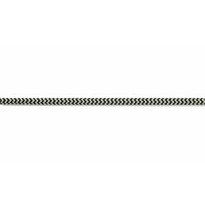 Kabel w oplocie okrągły czarno-biały 2x0,75