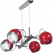 Lampa wisząca 4-płomienna Ball czerwona, Spot Light, 5009406