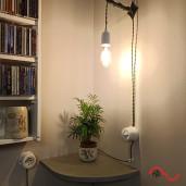 Włącznik światła retro pojedynczy GRANATOWY