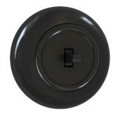 Włącznik pojedynczy z ramką czarny połysk