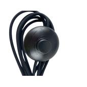 Przewód z włącznikiem nożnym i wtyczką, kolor: czarny