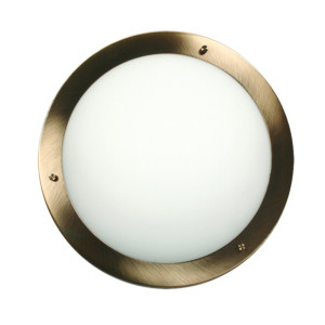 AQUILA LAMPA SUFITOWA PLAFON 40 2X60W E27 PATYNA IP44