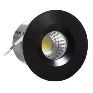 SH-14 BK 3W LED 230V CZARNY oczko sufitowe lampa sufitowa HERMETYCZNA IP65 odporna na wilgoć