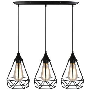 GRAF LAMPA WISZĄCA 3X60W E27 CZARNY