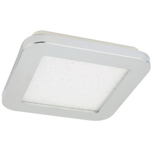 NEXIT LAMPA SUFITOWA PLAFON 17X17 10W LED IP44 CHROM+GRANILA 3000K