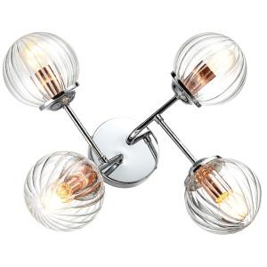 BEST LAMPA SUFITOWA 4X40W E14 CHROM+MIEDŹ