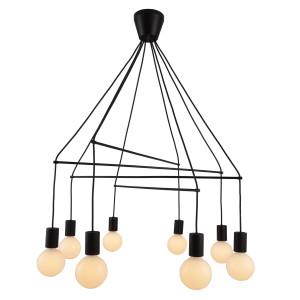 ALTO LAMPA WISZĄCA 8X40W E27 CZARNY MATOWY