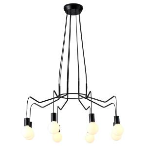 BASSO LAMPA WISZĄCA 8X40W E27 CZARNY MATOWY