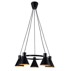 MORE LAMPA WISZĄCA 5X40W E27 CZARNY MATOWY