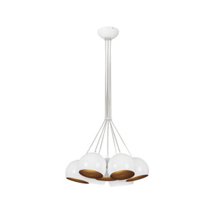 Lampa wisząca BALL WHITE-GOLD siedmiopunktowa 6604 Nowodvorski