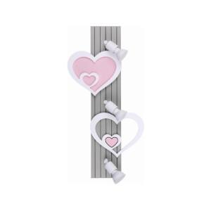 Lampa dziecięca dla dziewczynki na sufit HEART 9063 Nowodvorski