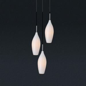 Lampa wisząca biała Champagne, Zuma Line, MD2101A-3W
